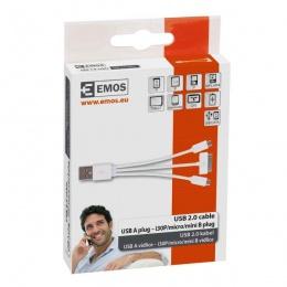 Emos kabal USB Micro B, mini B, i30P, 0,2m SM7050