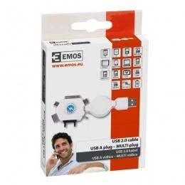 Emos kabal USB 2.0 A/M-Multi/M 0,8m SM7043