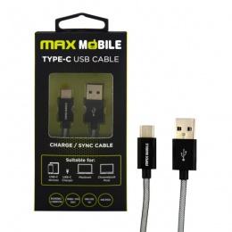 Max mobile Data kabal USB 2.0 TYPE C crni 2m