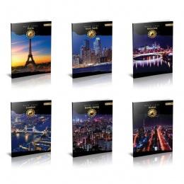 Sveksa Premium A4 tvrdi povez karo Gradovi 96 lista
