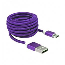 SBOX kabal micro USB 1,5m ljubičasti