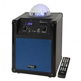 Zvučnik Ibiza KUBE60-BL 60W FM, USB, SD, AUX, Li-baterija, Astro Blue