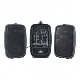 Ozvučenje COMBO208-VHF 2x zvučnik 8''P+miksetsa ak sa USB, MP3, SD, BY + 2x mic Ibiza