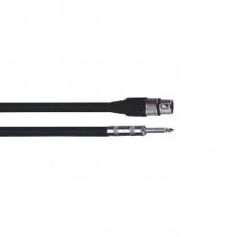Kabal za mikrofon Ibiza CM6B XLR-F/6.35-M 6m