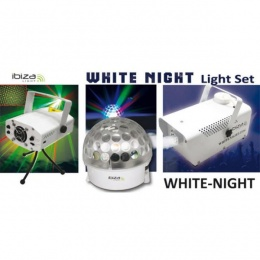 LED efekat White Night kugla+laser+dim mašina 400W