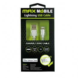Max mobile kabal za iPhone 5/6/7/8/X silver 1m