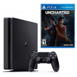 Sony PlayStation 4 Slim 500GB crni + Uncharted The Lost Legacy