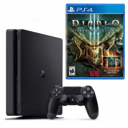 Sony PlayStation 4 Slim 500GB crni + Diablo 3: Eternal Collection