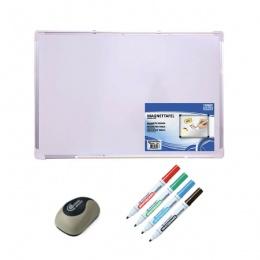 Officepoint magnetna tabla 120x90cm Whiteboard + set markera + brisač ploće