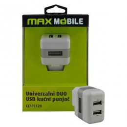 Max Mobile univerzalni kućni punjač USBx2