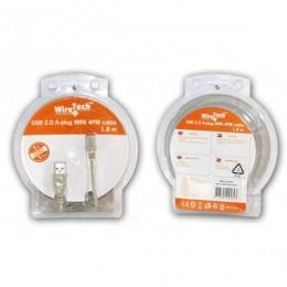 Wiretech kabal USB 2.0 AM/mini 4-pin, 1.8 m