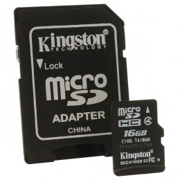Kingston MC MicroSD 16GB, SDC4/16GB