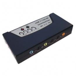 Asonic eksterna zvučna kartica C-Media USB 8 kanalna