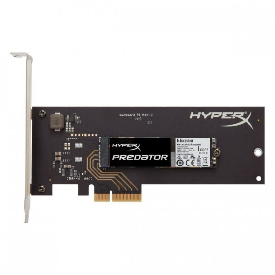Kingston SSD 480GB HyperX Predator PCIe/M2, SHPM2280P2H/480G
