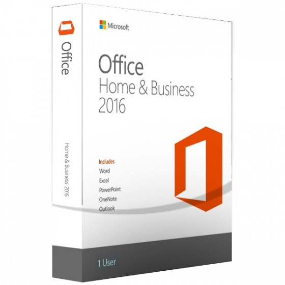 Microsoft Office Home and Business 2016 Eng DVD, T5D-02710