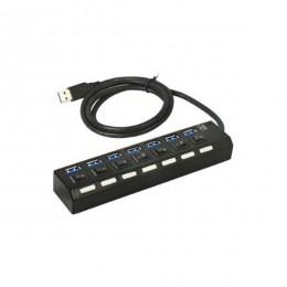 Asonic HUB USB3.0 7-portni metalni s napajanjem