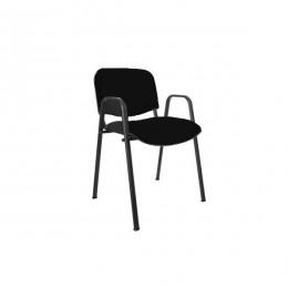Stolica konferencijska ISO BLACK W sa rukonaslonima crna