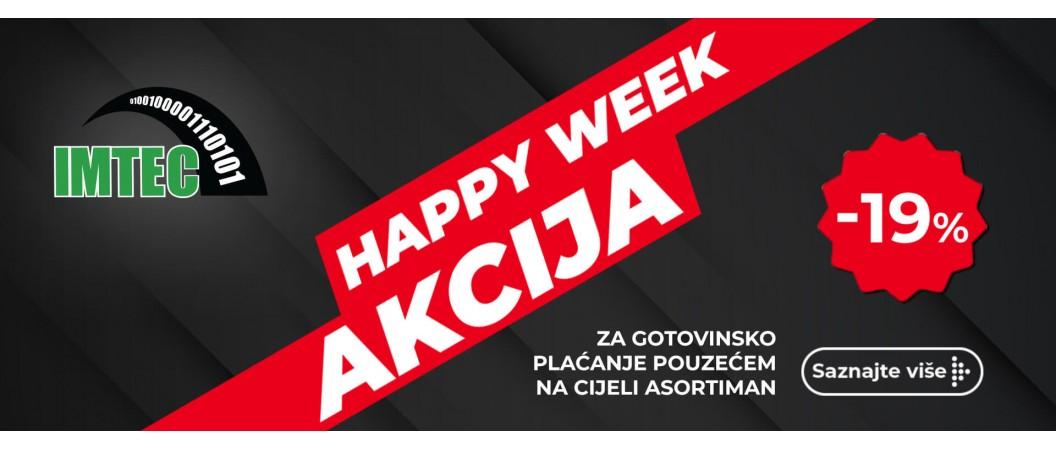 HAPPY WEEK AKCIJA: 19% na cijeli asortiman