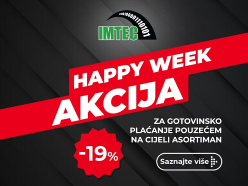 HAPPY WEEK AKCIJA: 19% na cijeli asortiman