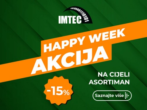 HAPPY WEEK AKCIJA: 15% NA KOMPLETAN ASORTIMAN